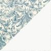 Flores azules - interior blanco liso