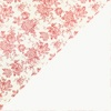 Flores rojas - interior blanco liso