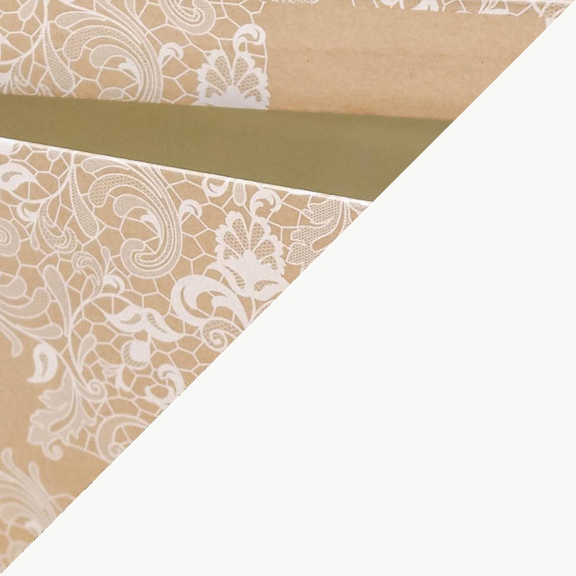 Craft encaje - interior blanco liso